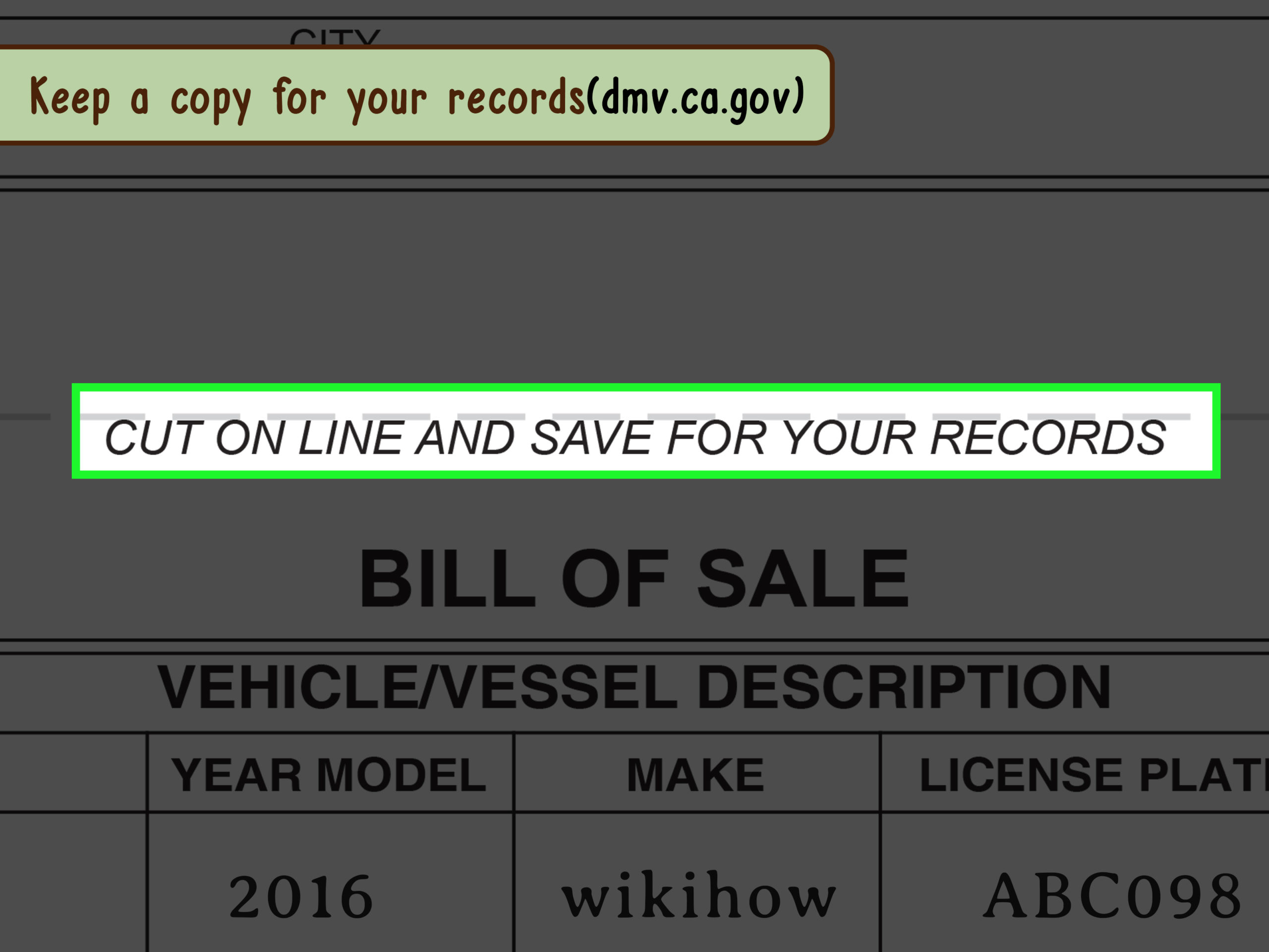 3 Ways To Write A Bill Of Sale - Wikihow