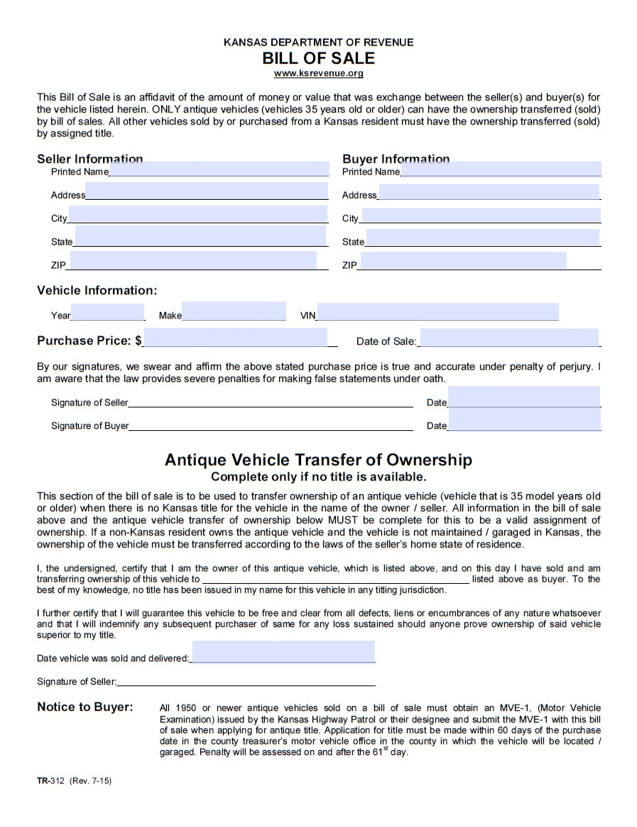 Car Bill Of Sale Pdf | Printable Template | As Is Bill Of Sale