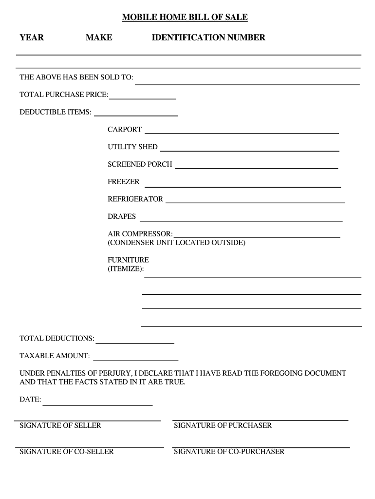 Fill In Bill Of Sale For A House - Fill Out And Sign Printable Pdf Template  | Signnow
