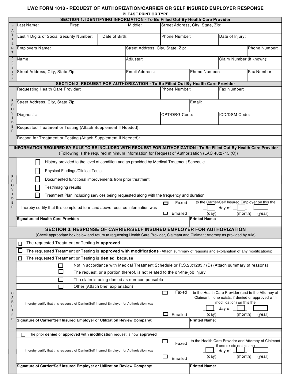 Form 1010 Download Fillable Pdf Or Fill Online Request Of