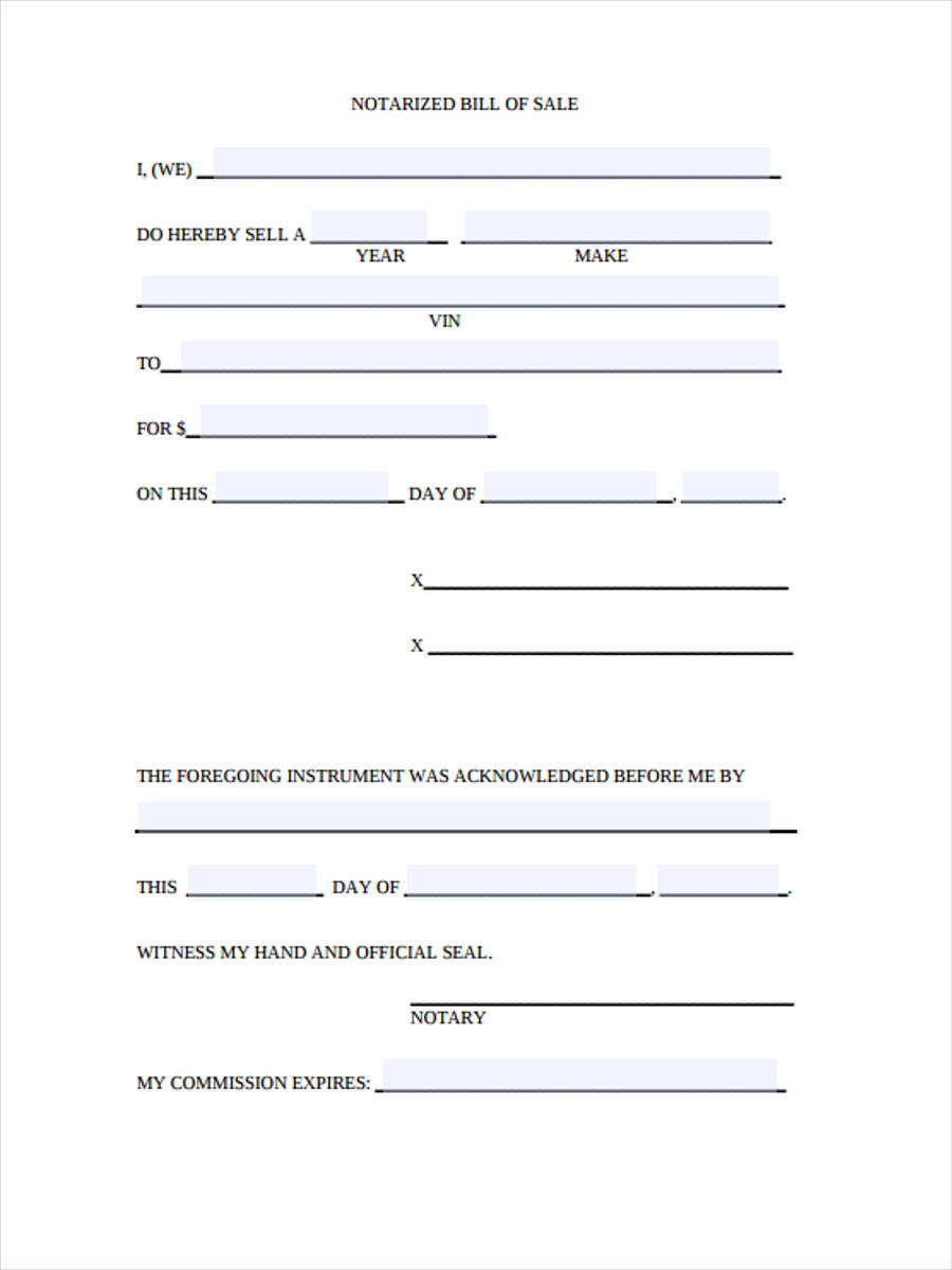 Free 28+ Sample Bill Of Sale Forms In Pdf   Ms Word