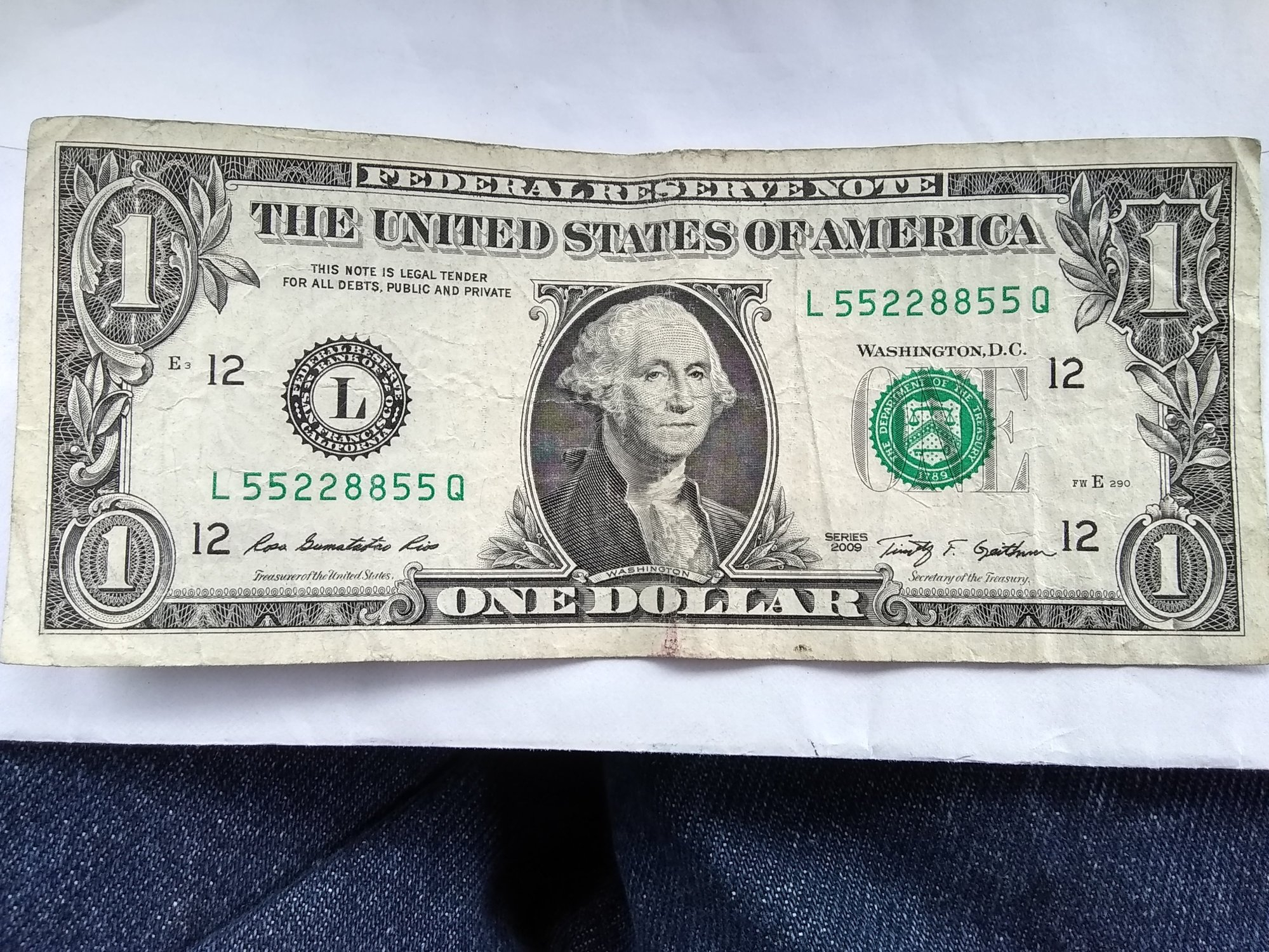 I Have This Fancy Serial Number $1 Bill For Sale