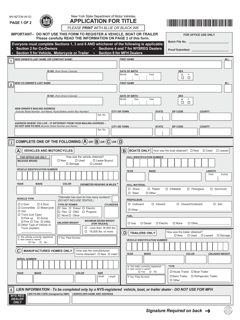 Mv50 Form - Fill Out And Sign Printable Pdf Template   Signnow