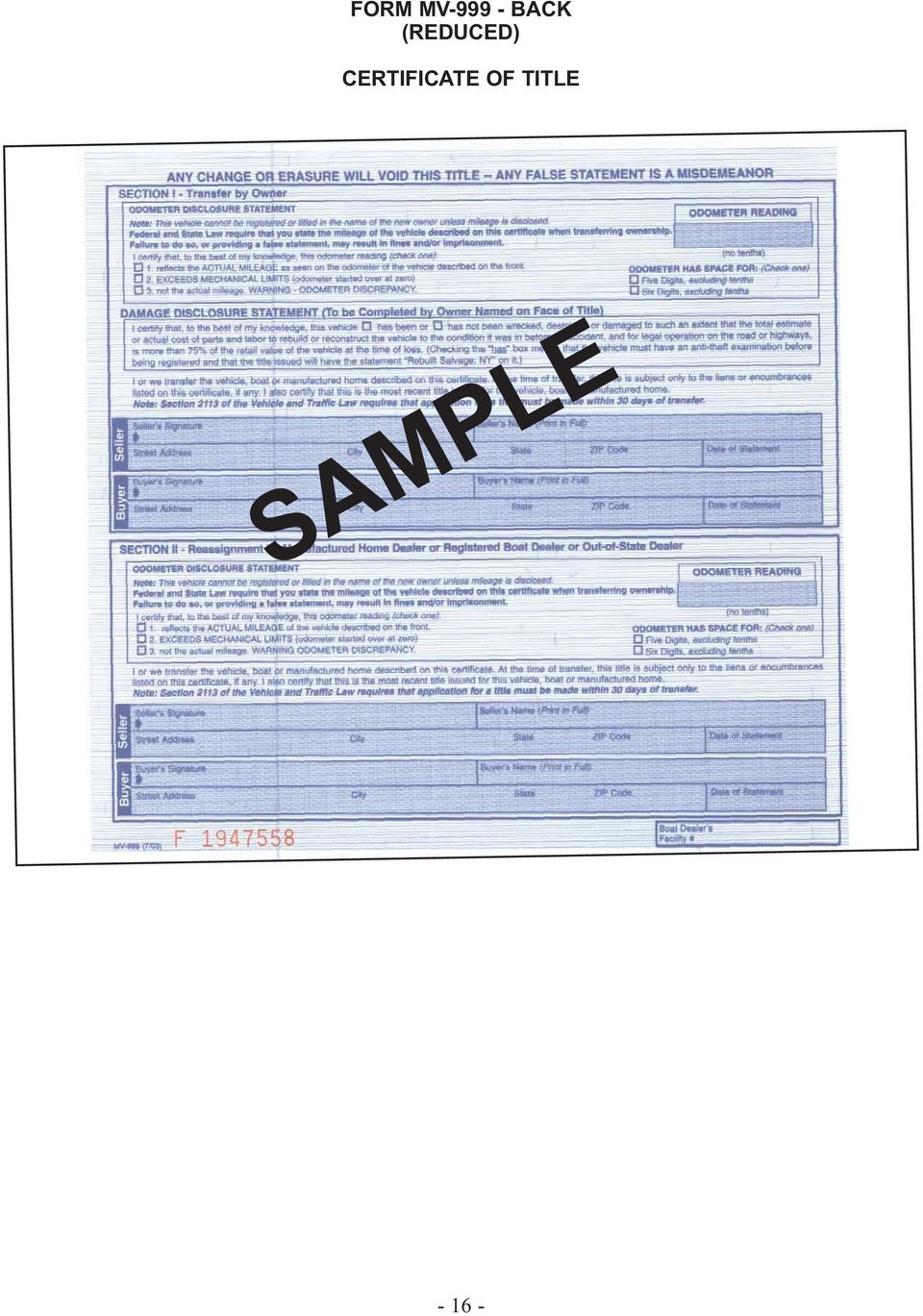 New York State Department Of Motor Vehicles - Pdf Free Download