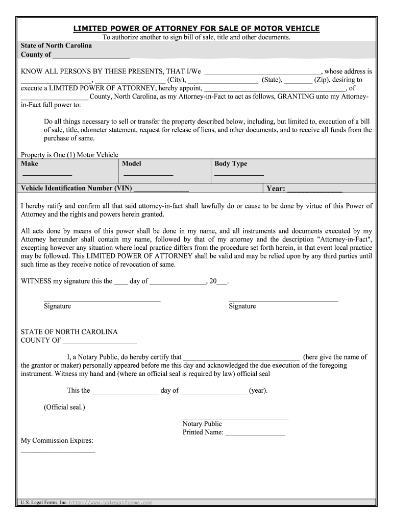 North Carolina Motor Vehicle Bill Of Sale Form Sfn 2888 - Fill Out And Sign  Printable Pdf Template | Signnow