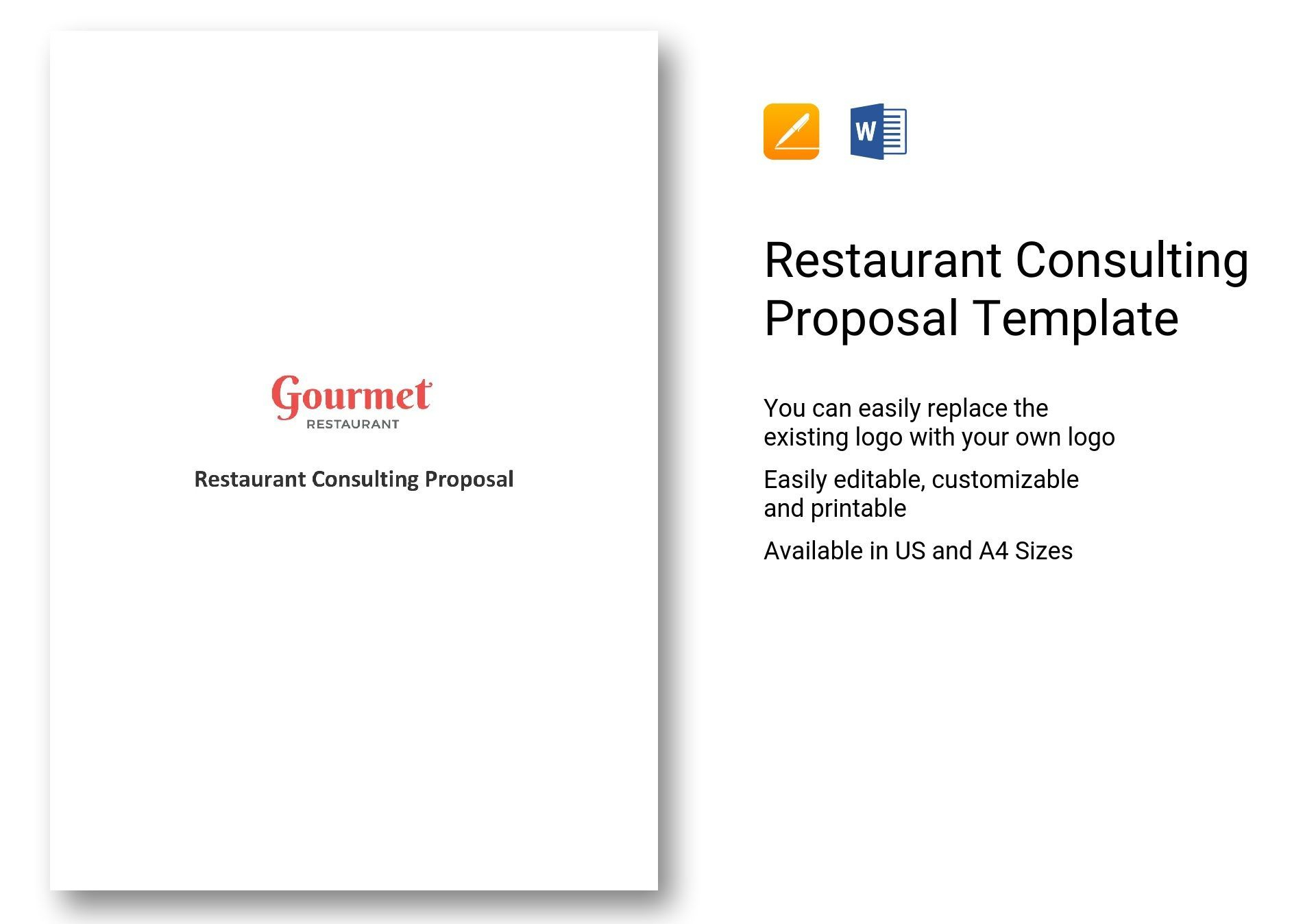 Restaurant Consulting Proposal Template In 2020   Business