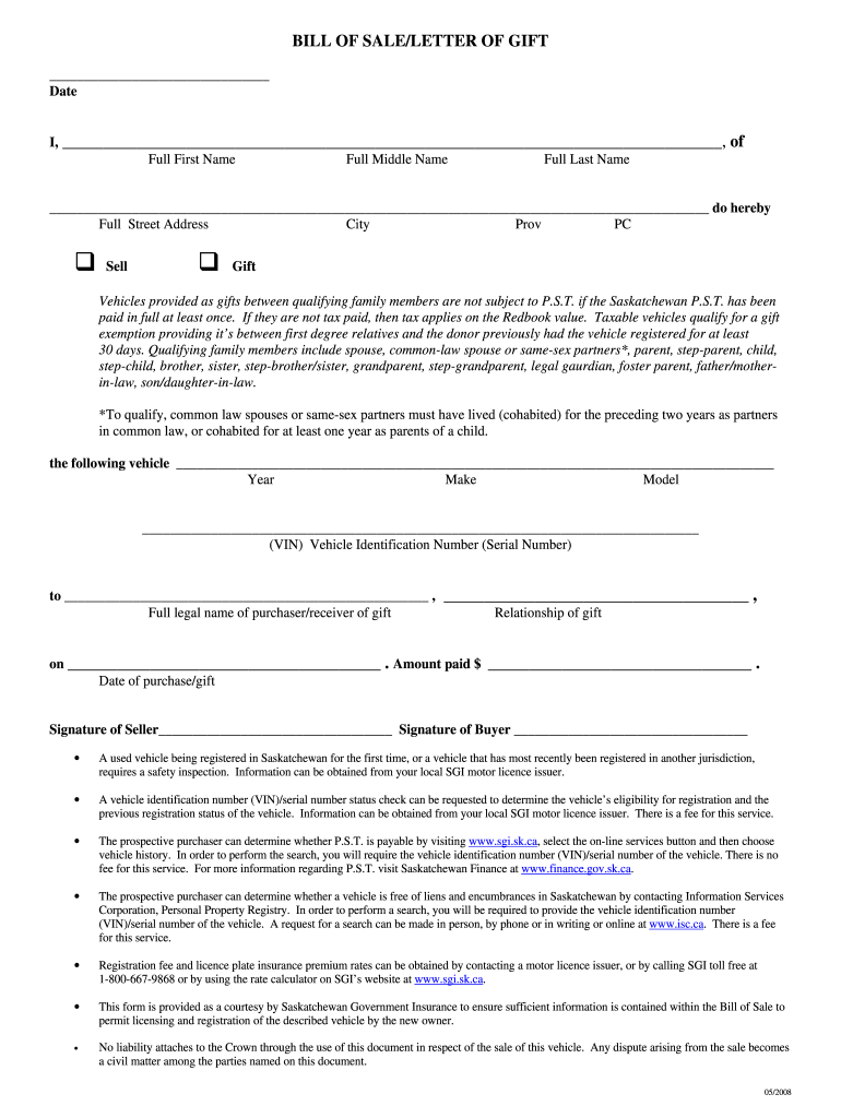 Sgi Bill Of Sale - Fill Out And Sign Printable Pdf Template | Signnow