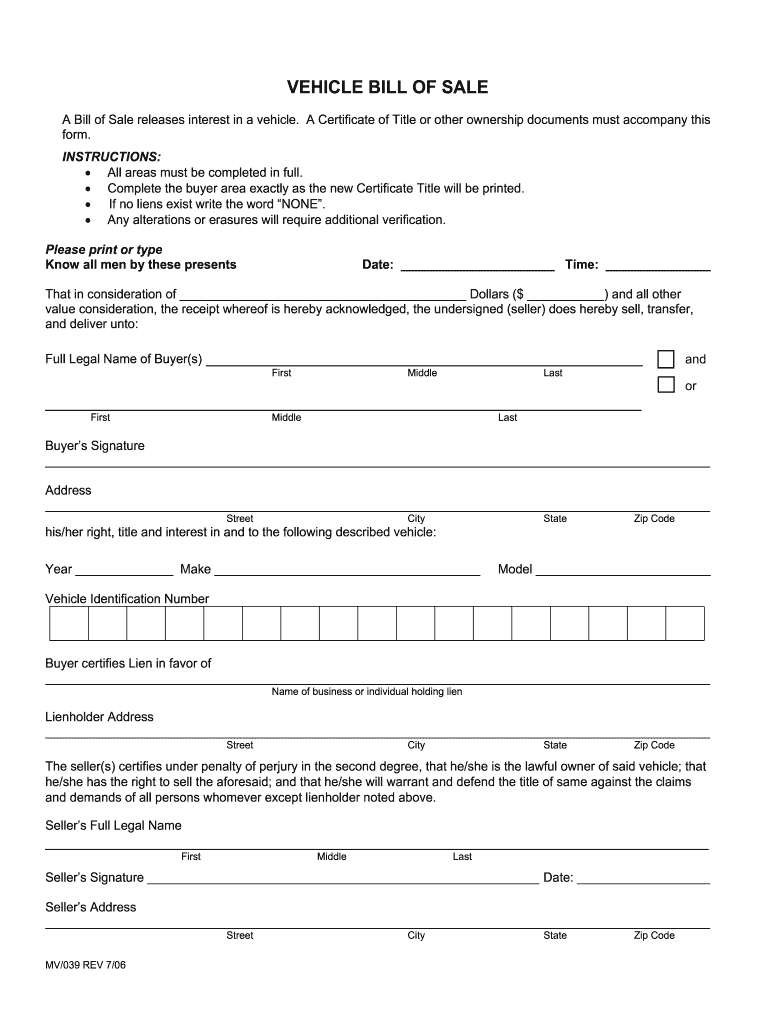 Texas Vehicle Bill Of Sale - Fill Out And Sign Printable Pdf Template |  Signnow